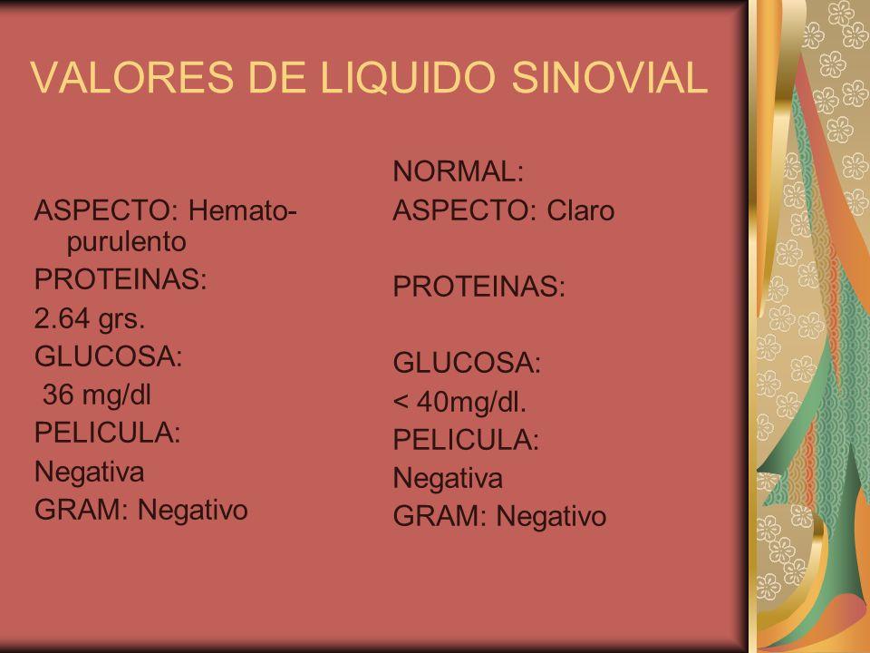 VALORES DE LIQUIDO SINOVIAL