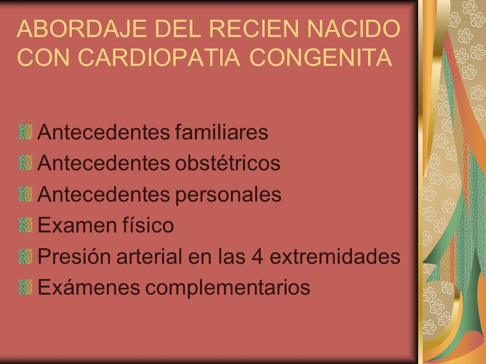 ABORDAJE DEL RECIEN NACIDO CON CARDIOPATIA CONGENITA