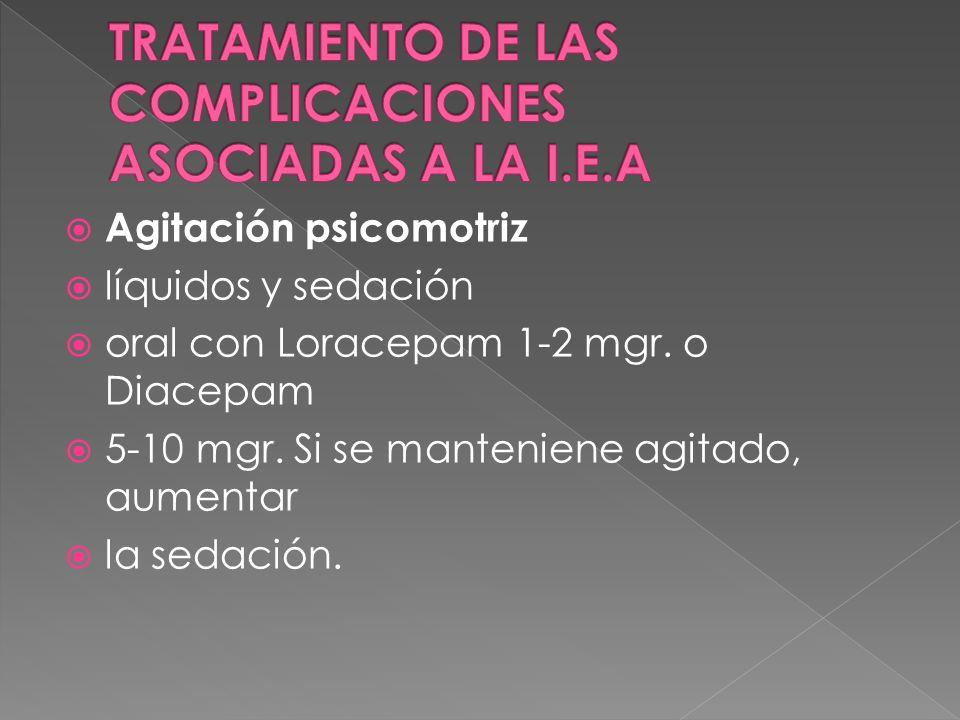 TRATAMIENTO DE LAS COMPLICACIONES ASOCIADAS A LA I.E.A