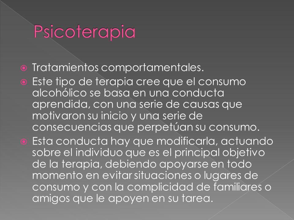 Psicoterapia Tratamientos comportamentales.