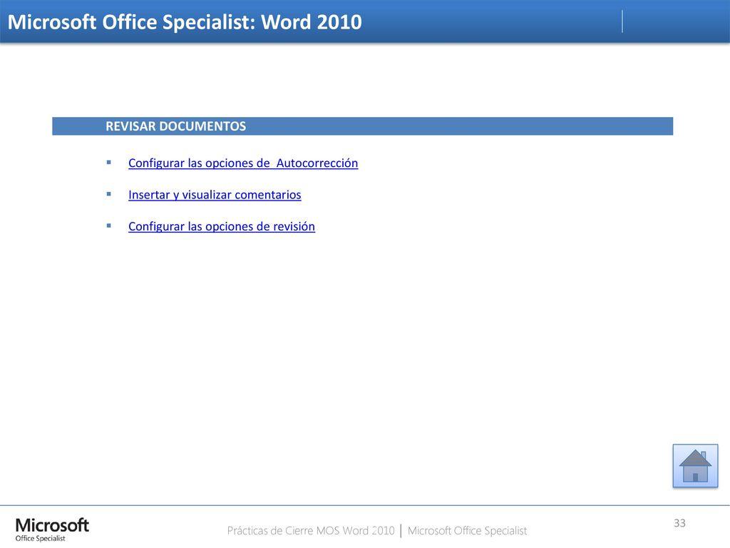 microsoft office specialist word 2010 pdf