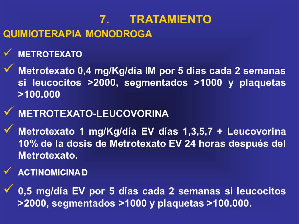 7. TRATAMIENTO QUIMIOTERAPIA MONODROGA