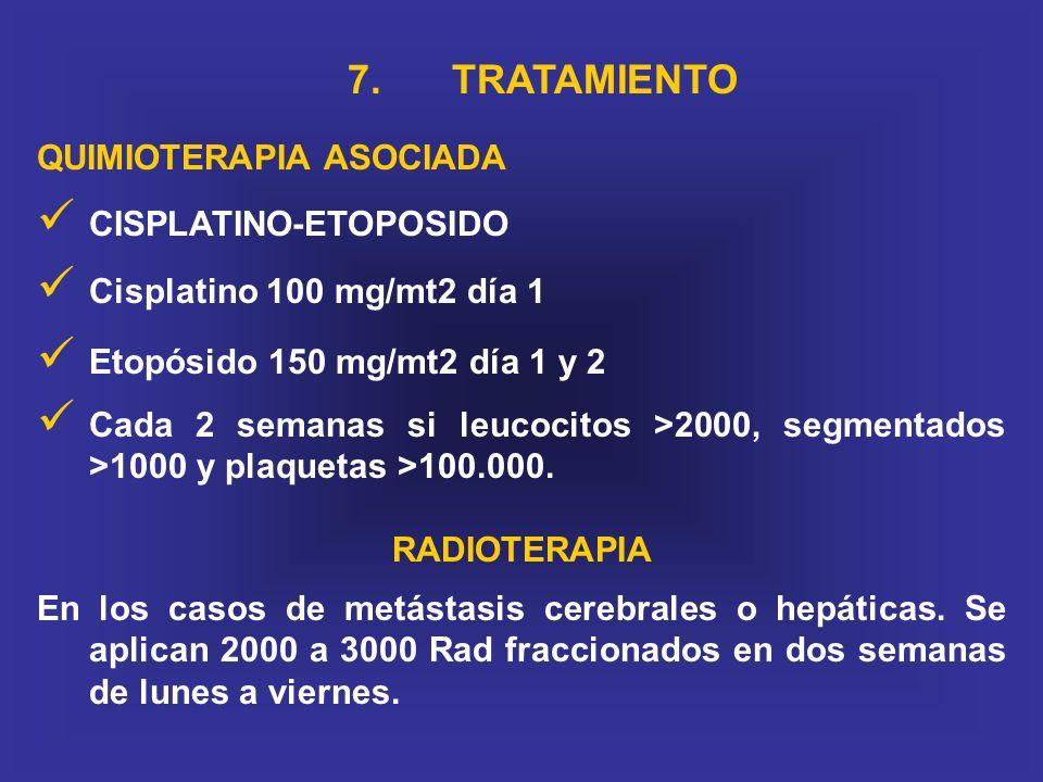 7. TRATAMIENTO QUIMIOTERAPIA ASOCIADA CISPLATINO-ETOPOSIDO