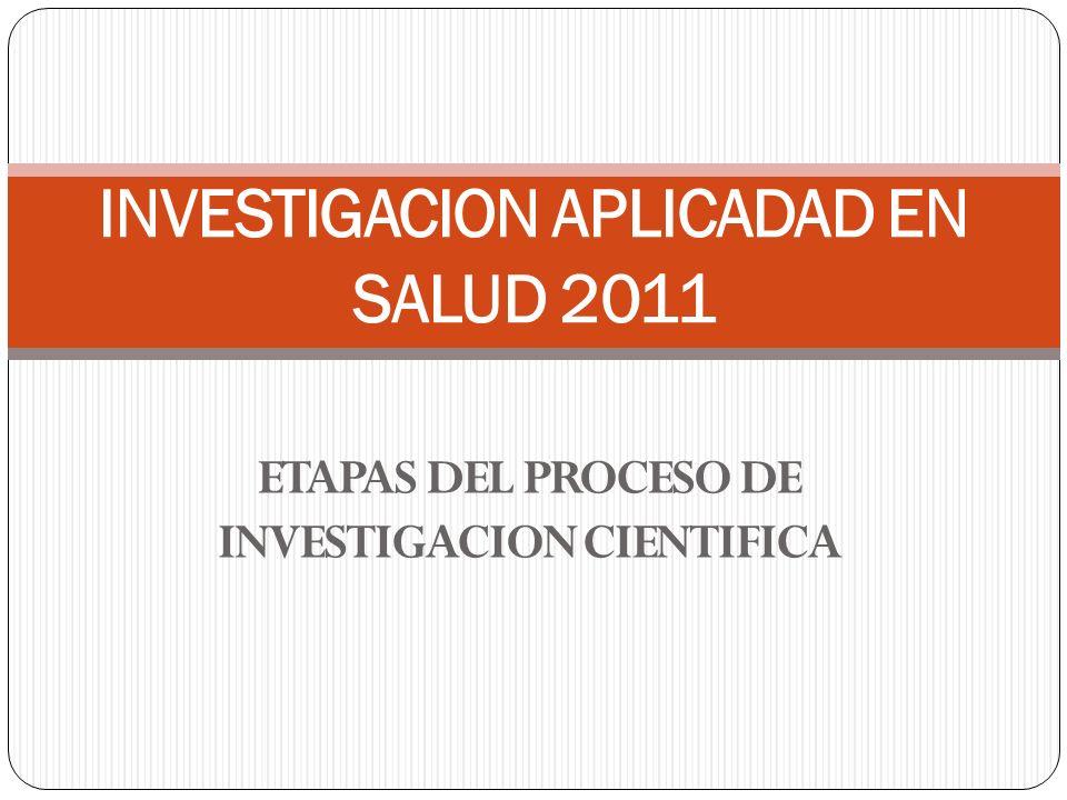 INVESTIGACION APLICADAD EN SALUD 2011