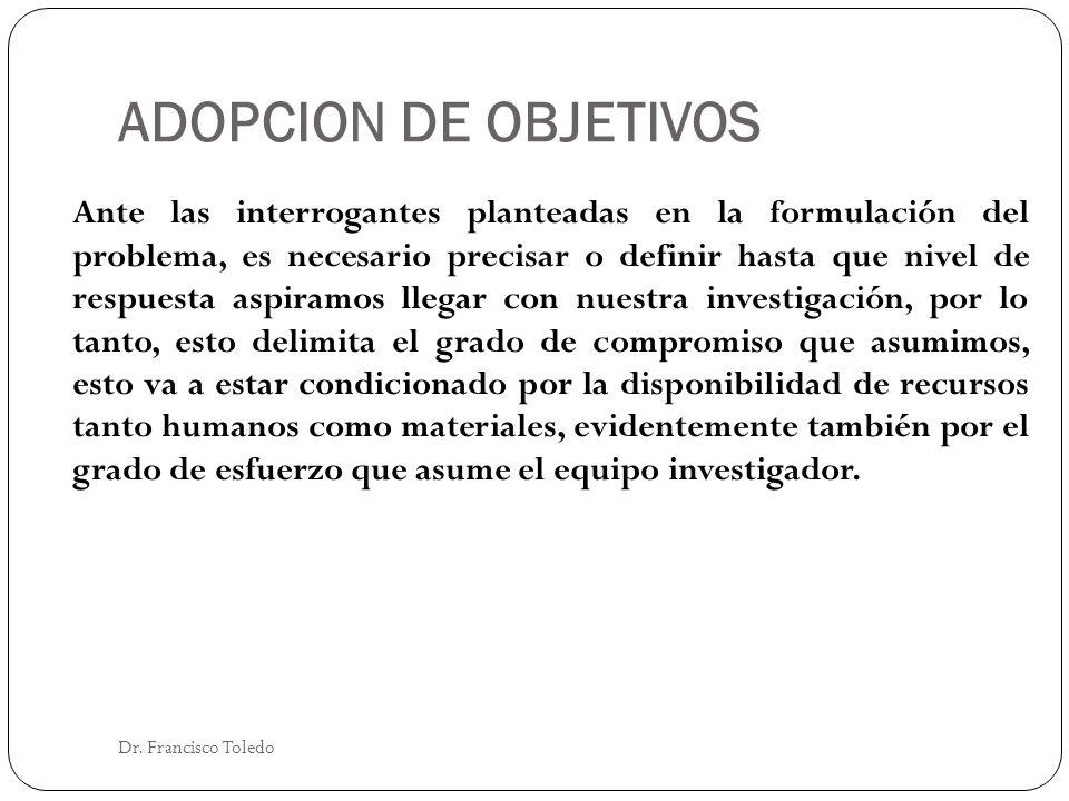 ADOPCION DE OBJETIVOS