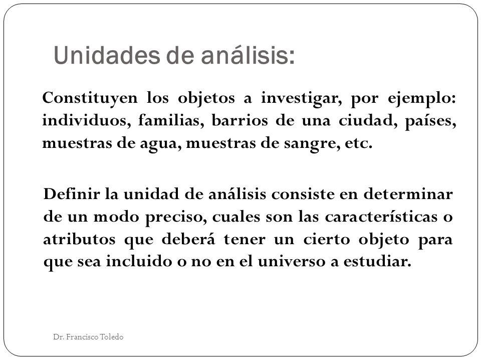 Unidades de análisis: