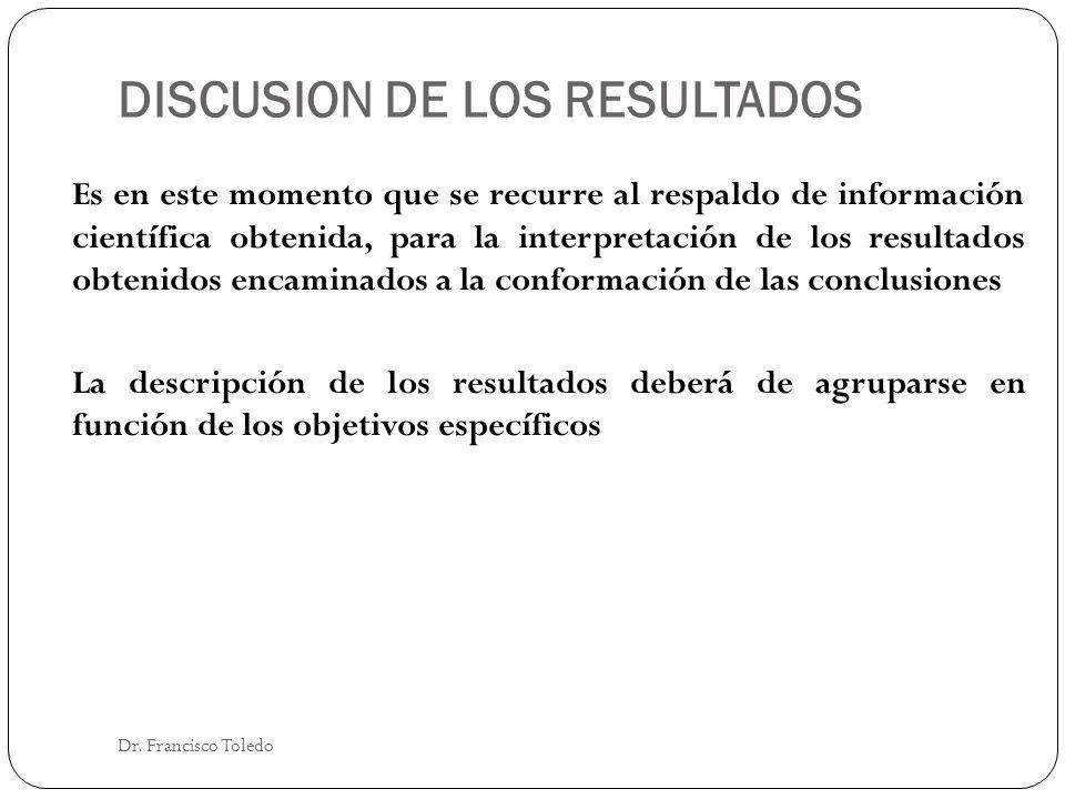 DISCUSION DE LOS RESULTADOS