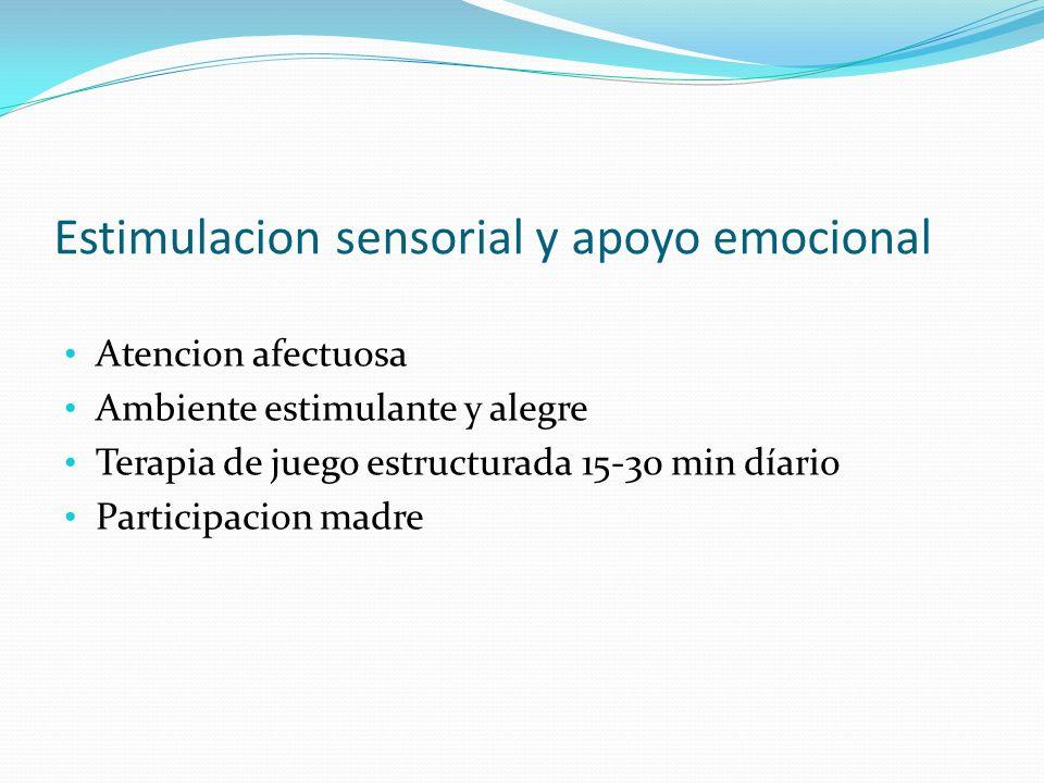 Estimulacion sensorial y apoyo emocional