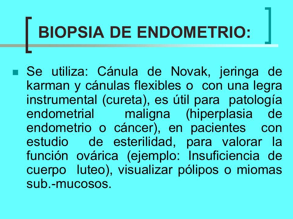 BIOPSIA DE ENDOMETRIO: