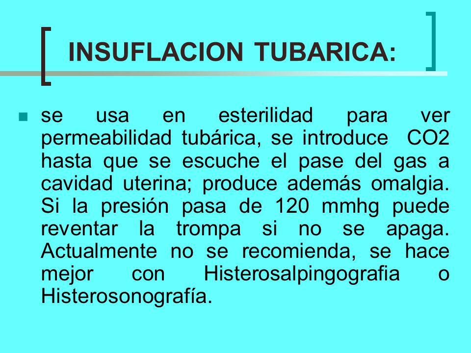 INSUFLACION TUBARICA: