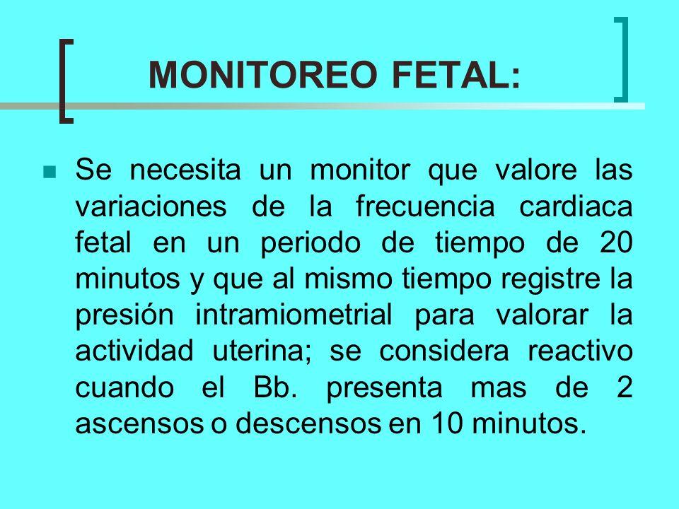 MONITOREO FETAL: