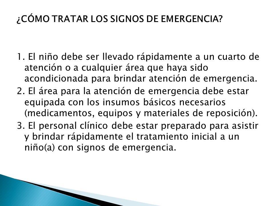 ¿CÓMO TRATAR LOS SIGNOS DE EMERGENCIA. 1