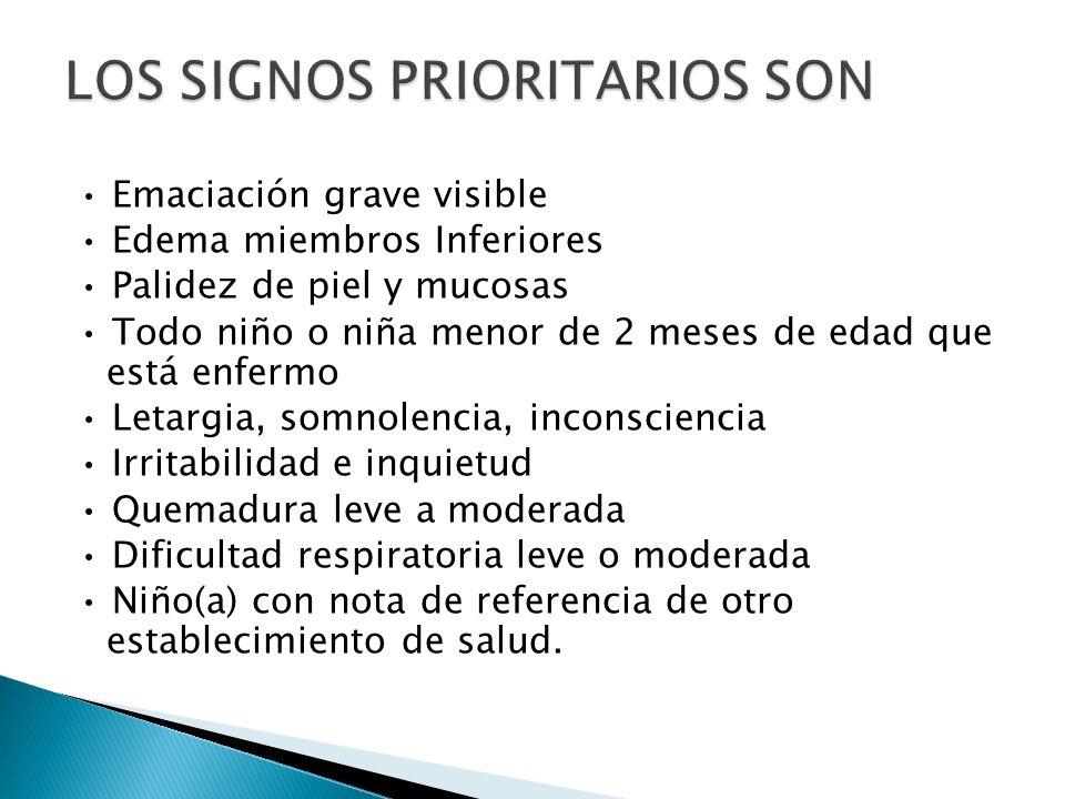 LOS SIGNOS PRIORITARIOS SON