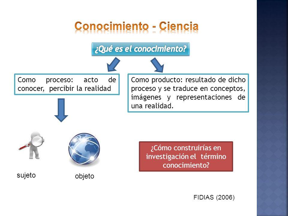 Conocimiento - Ciencia