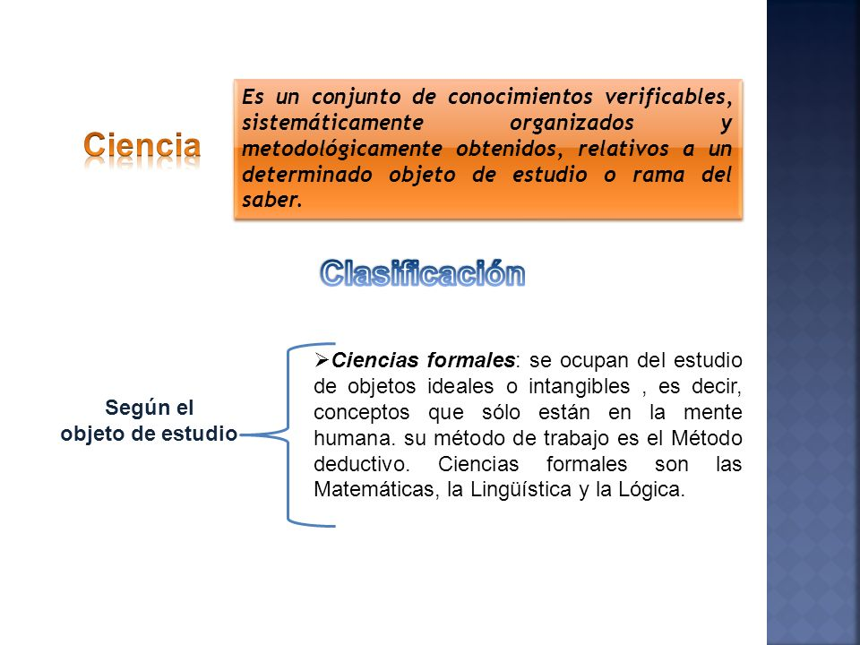 Ciencia Clasificación