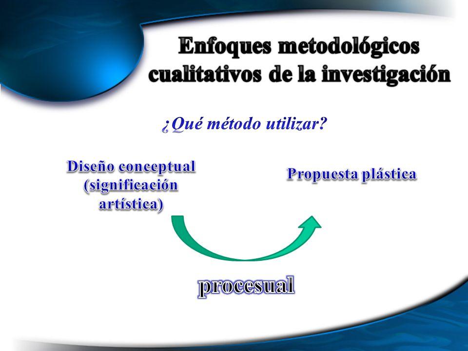 Enfoques metodológicos cualitativos de la investigación procesual