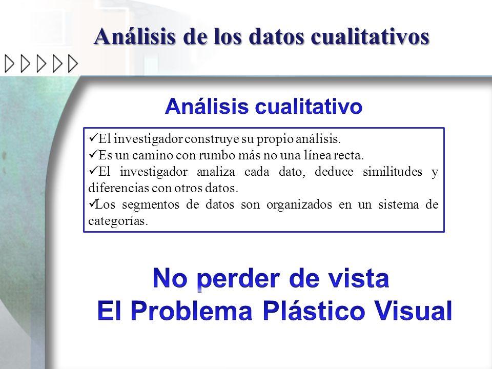 Análisis de los datos cualitativos El Problema Plástico Visual