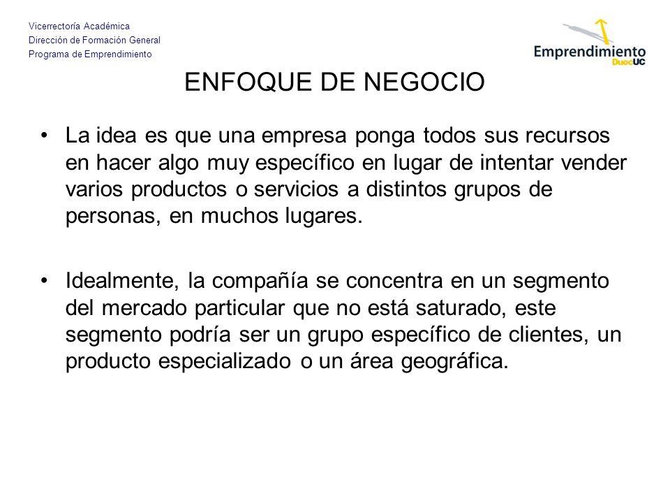ENFOQUE DE NEGOCIO