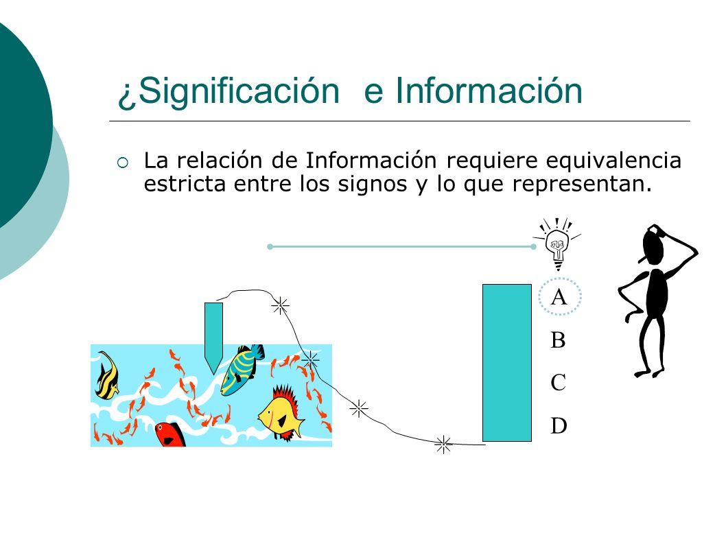 ¿Significación e Información