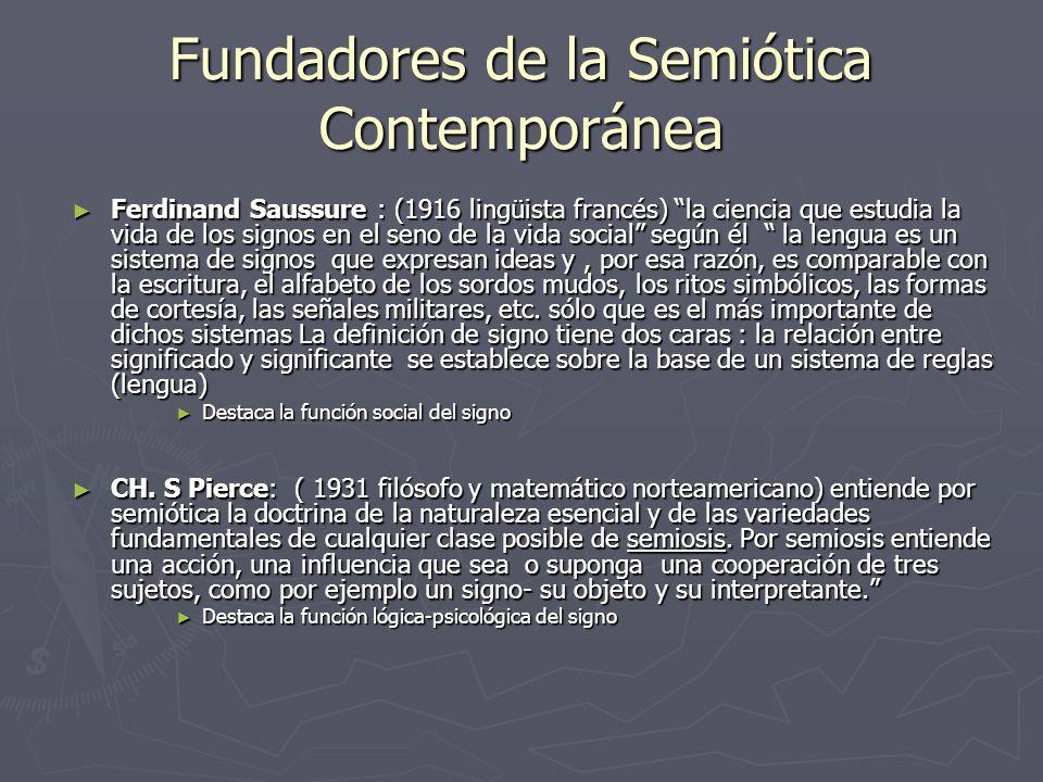 Fundadores de la Semiótica Contemporánea