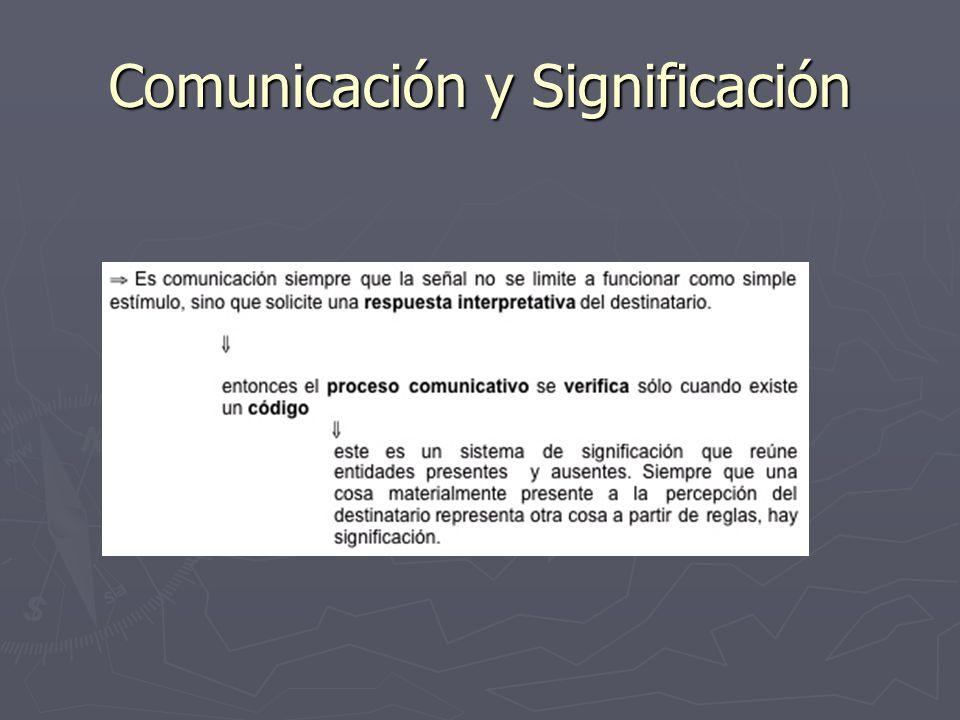 Comunicación y Significación