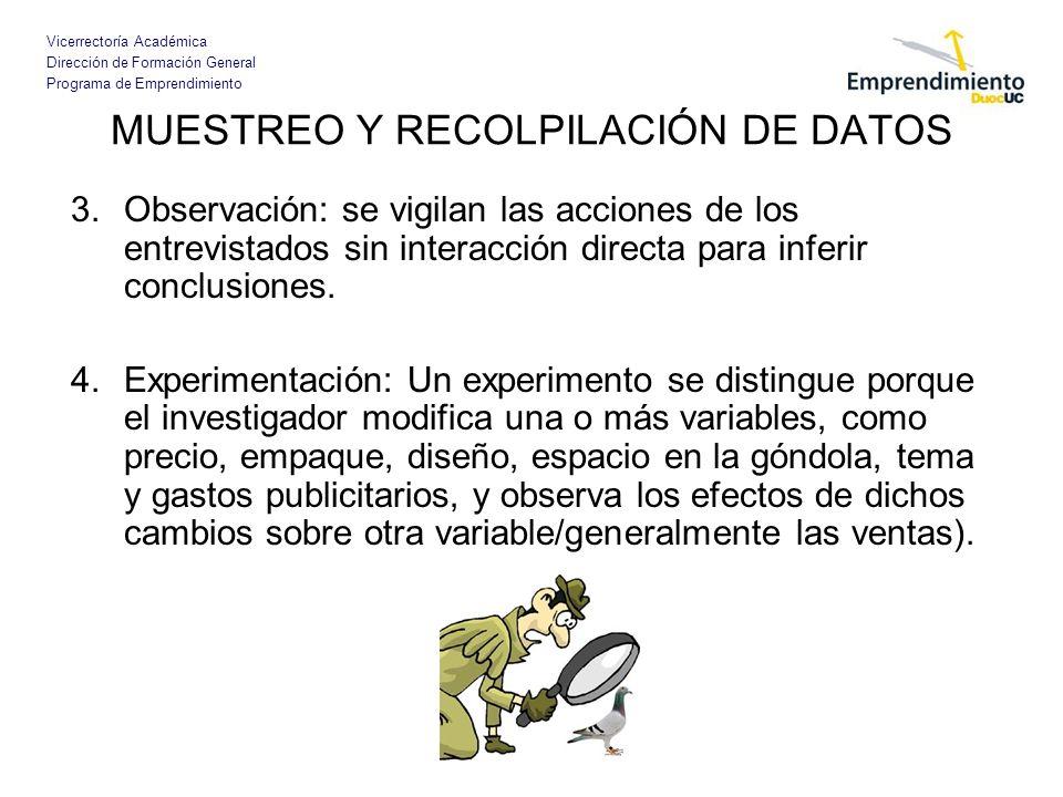 MUESTREO Y RECOLPILACIÓN DE DATOS