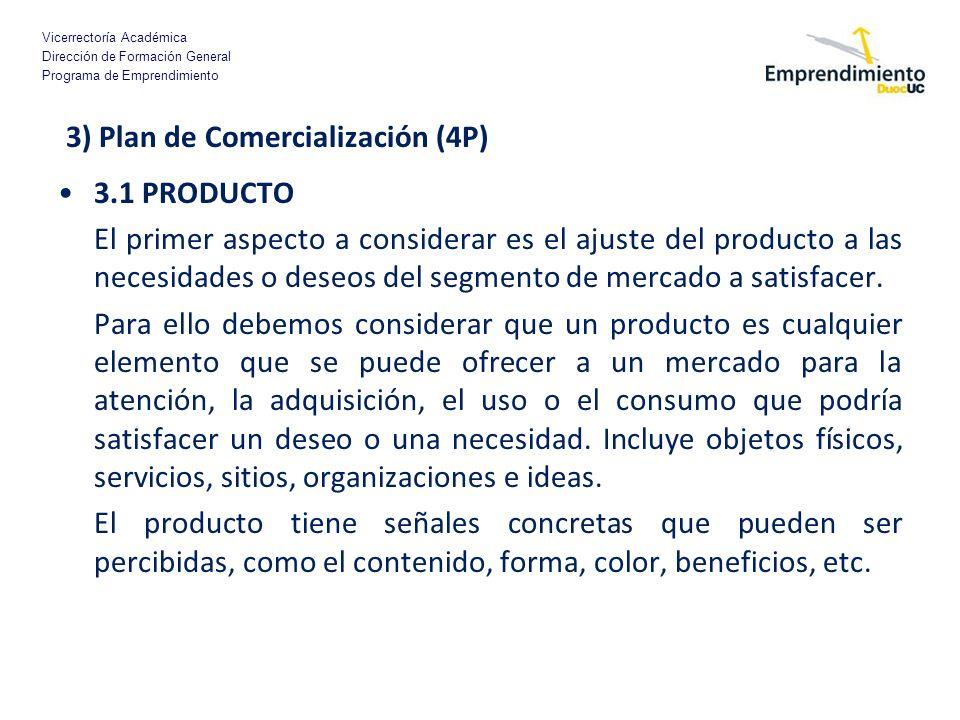 3) Plan de Comercialización (4P)