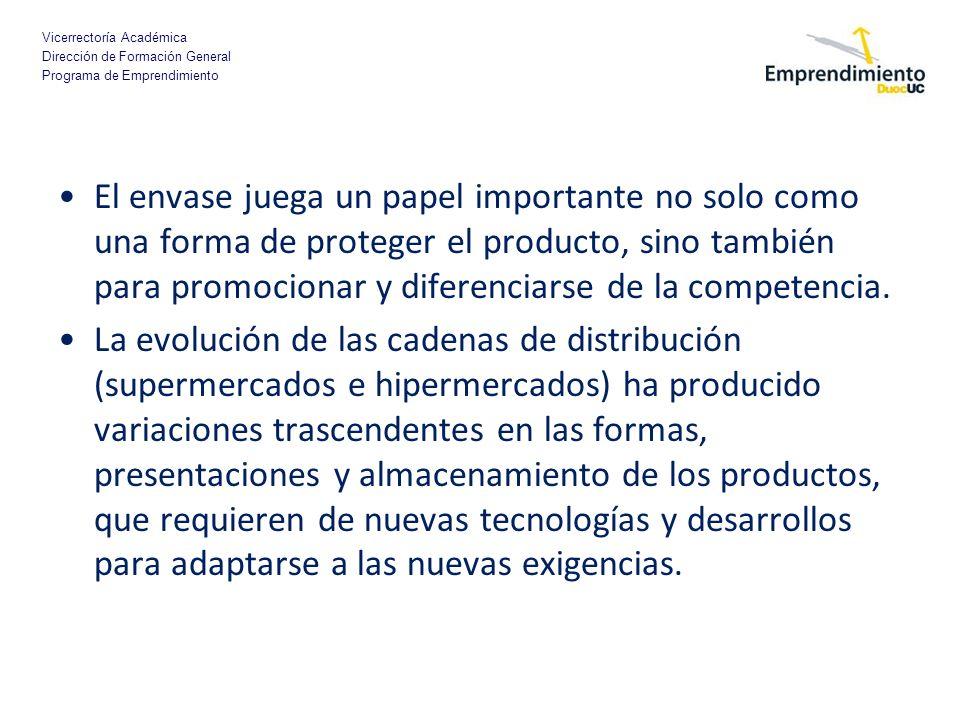 El envase juega un papel importante no solo como una forma de proteger el producto, sino también para promocionar y diferenciarse de la competencia.