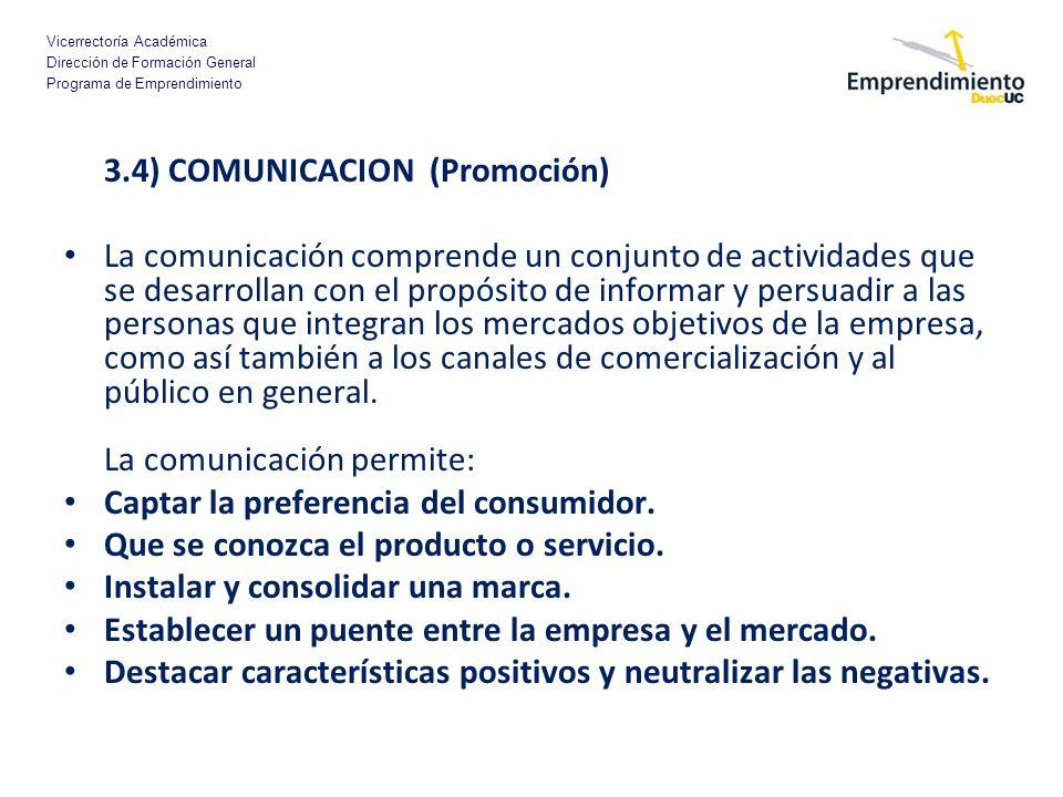 3.4) COMUNICACION (Promoción)