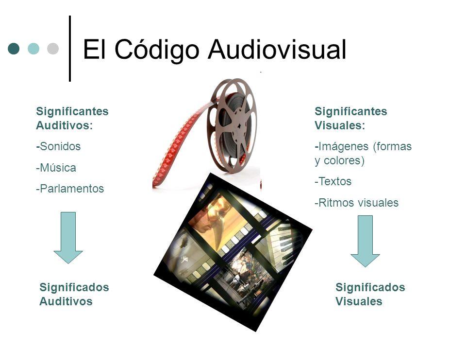 El Código Audiovisual Significantes Auditivos: -Sonidos -Música