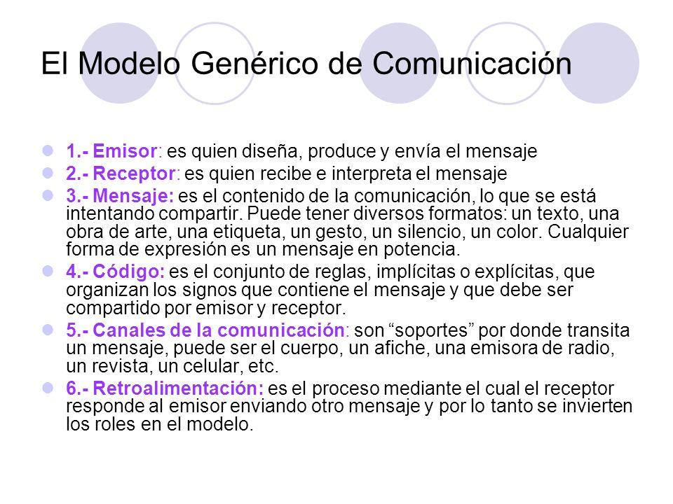 El Modelo Genérico de Comunicación