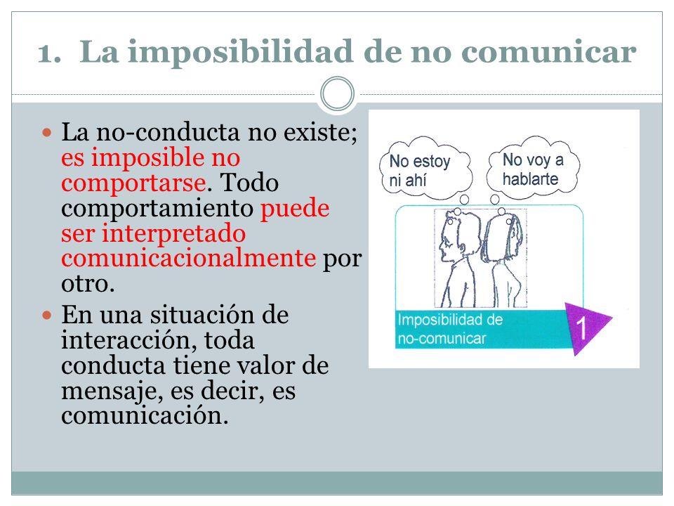 1. La imposibilidad de no comunicar