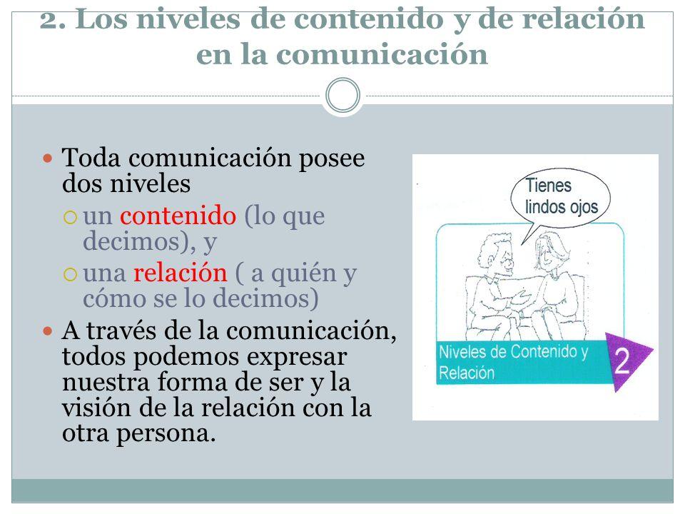 2. Los niveles de contenido y de relación en la comunicación