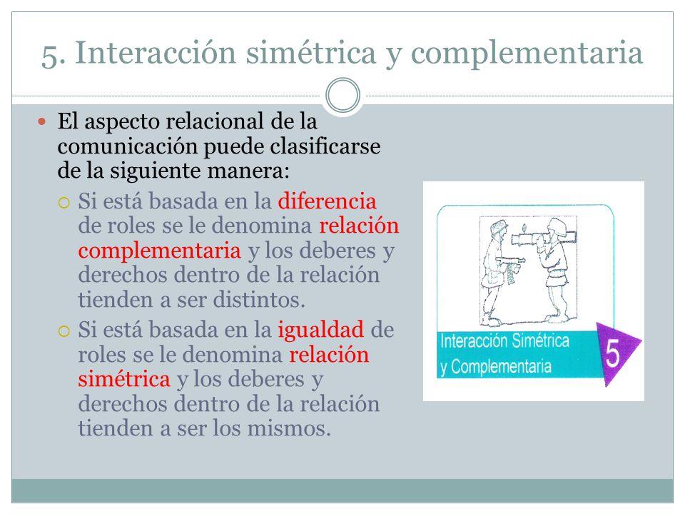 5. Interacción simétrica y complementaria