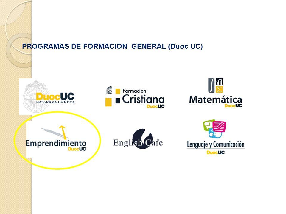PROGRAMAS DE FORMACION GENERAL (Duoc UC)