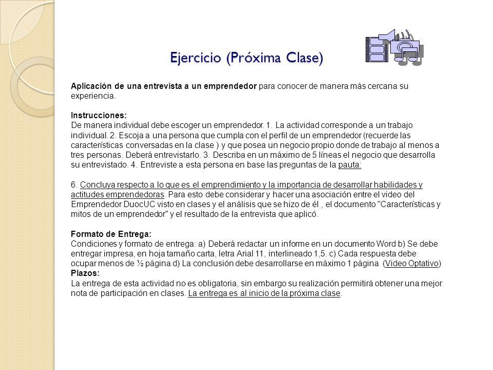 Ejercicio (Próxima Clase)