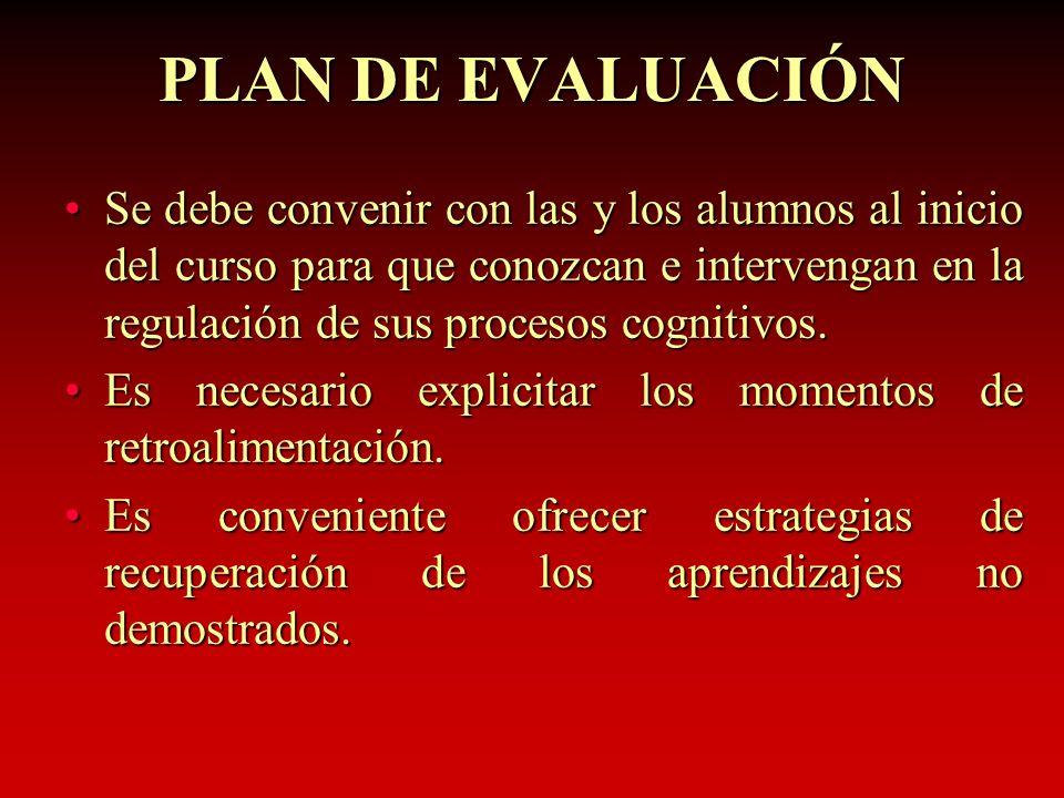 PLAN DE EVALUACIÓN