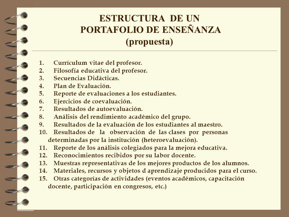 PORTAFOLIO DE ENSEÑANZA