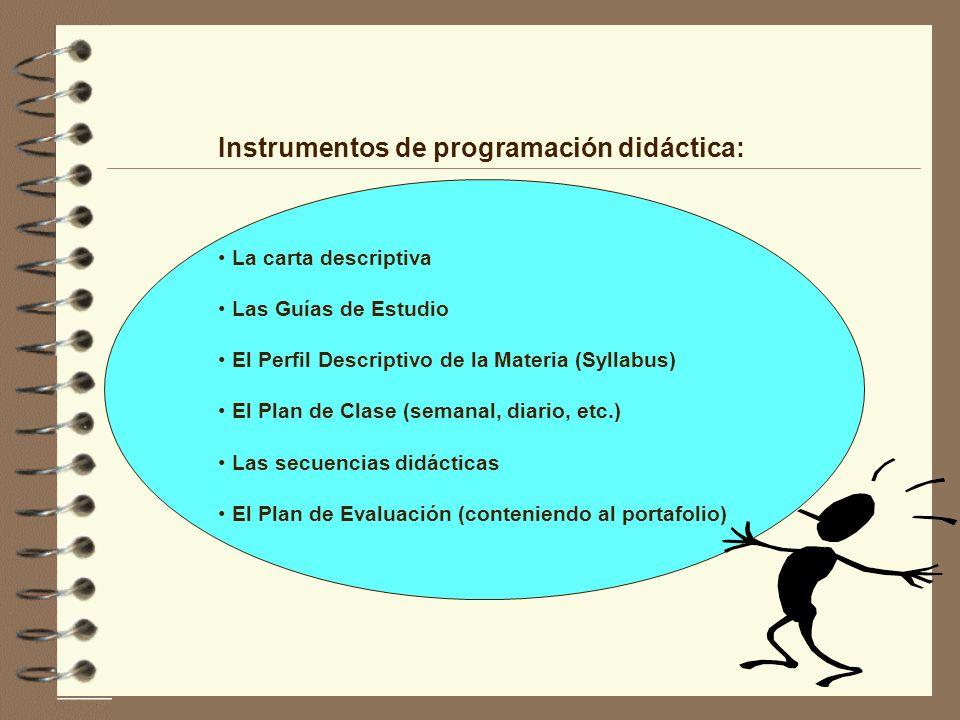 Instrumentos de programación didáctica: