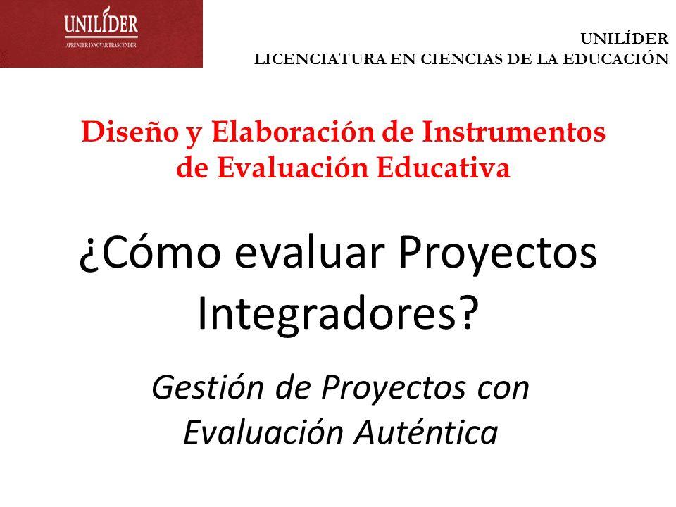 ¿Cómo evaluar Proyectos Integradores