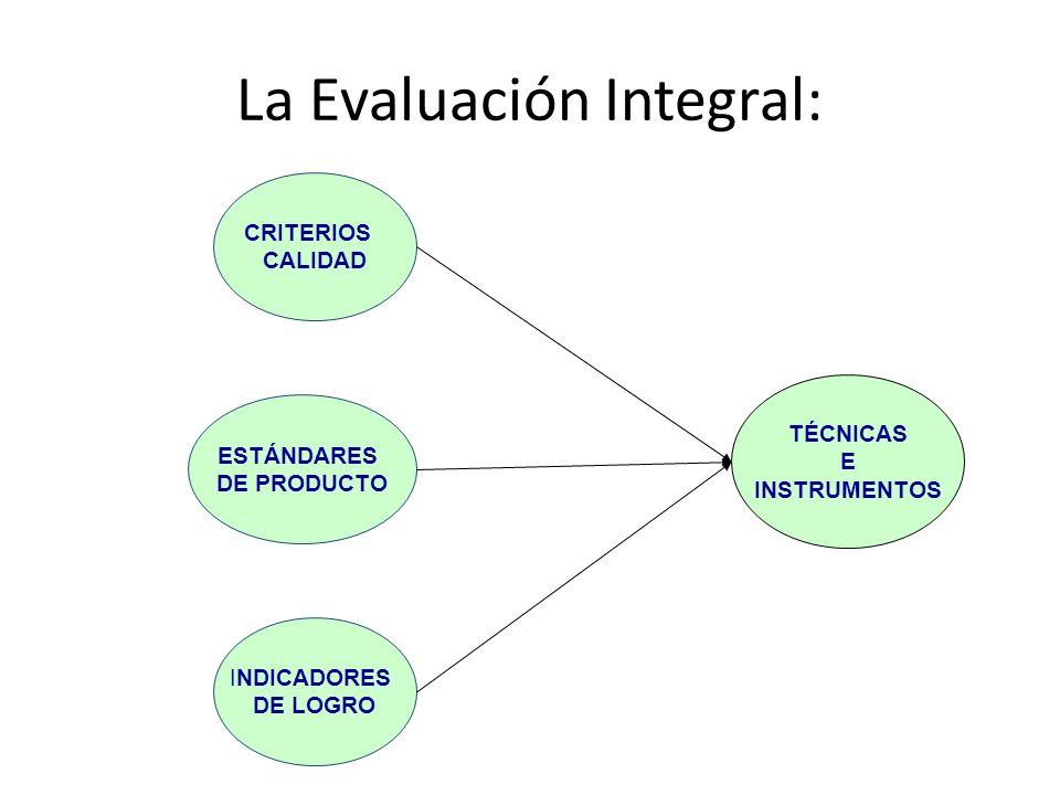 La Evaluación Integral: