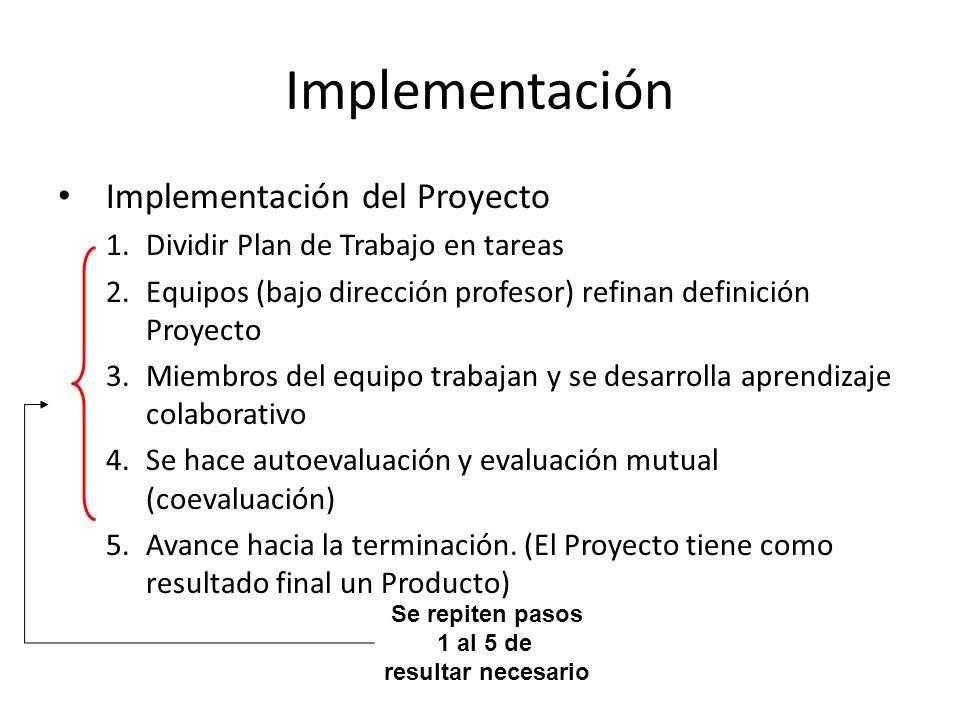 Implementación Implementación del Proyecto