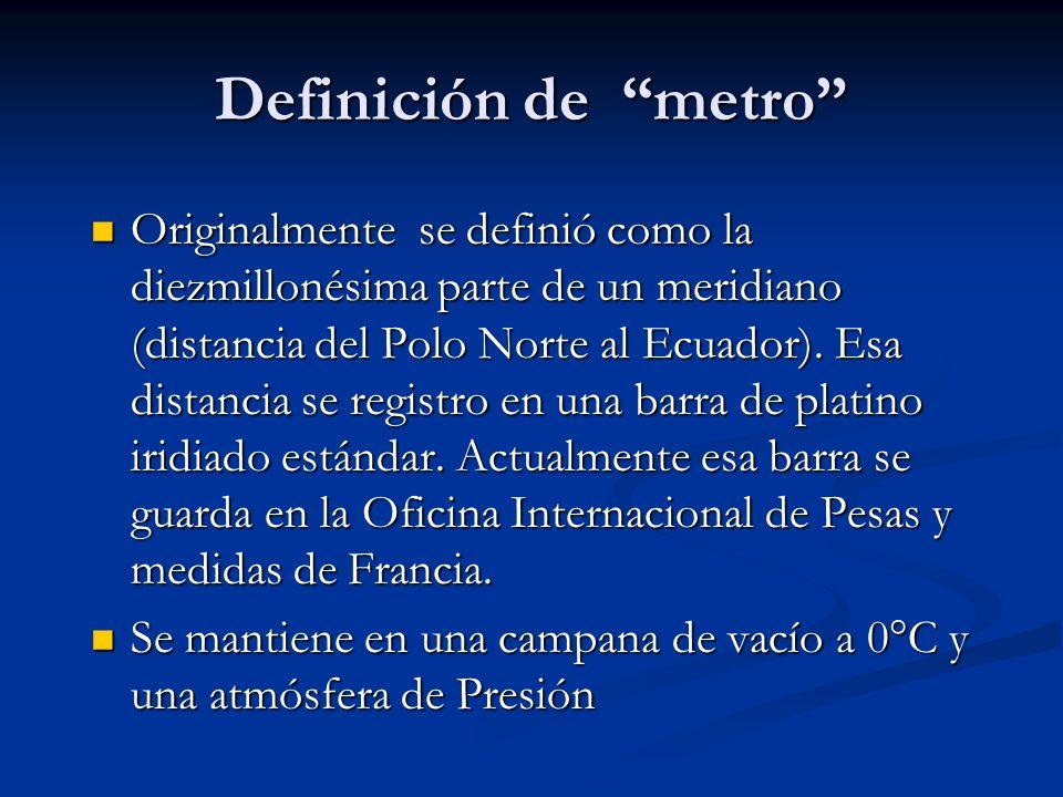 Definición de metro