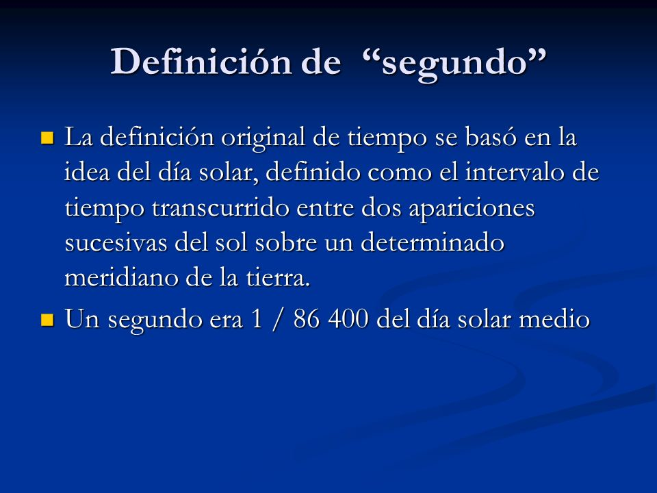 Definición de segundo