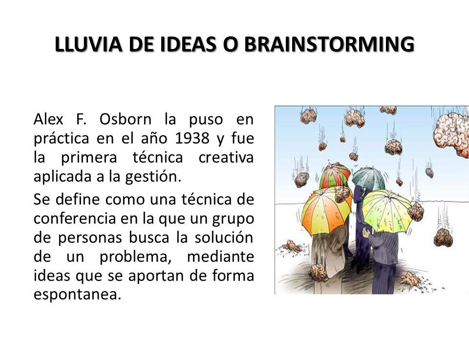 LLUVIA DE IDEAS O BRAINSTORMING