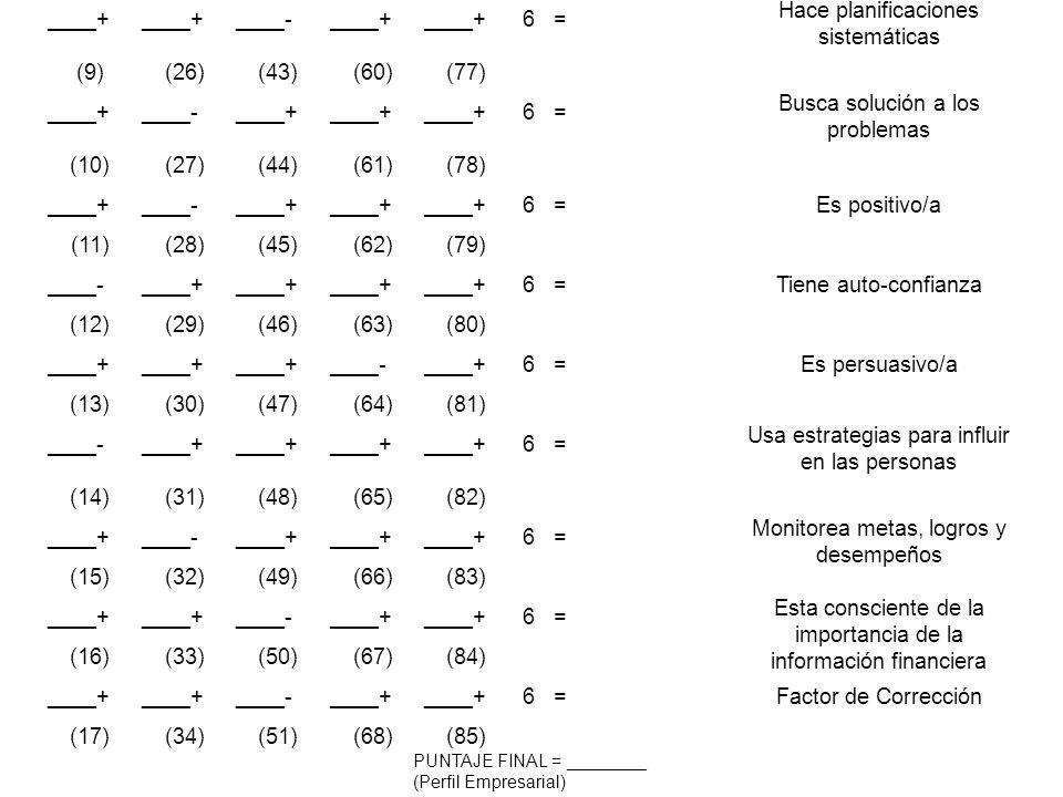 Hace planificaciones sistemáticas (9) (26) (43) (60) (77)