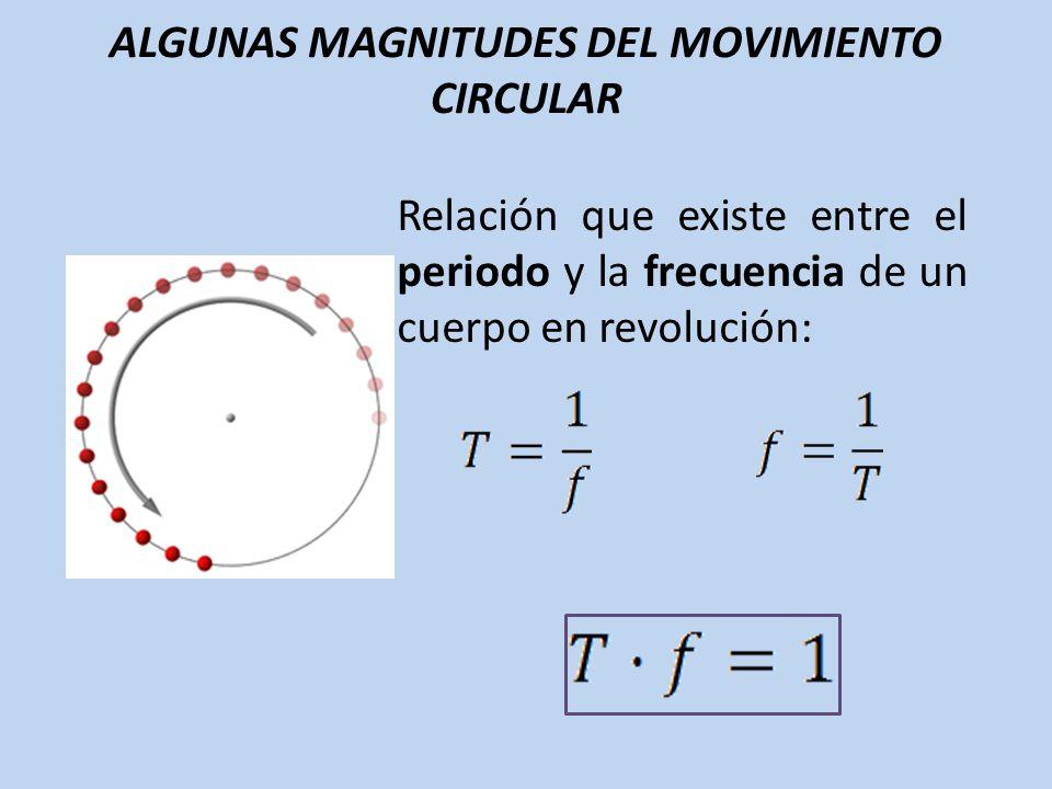 ALGUNAS MAGNITUDES DEL MOVIMIENTO CIRCULAR