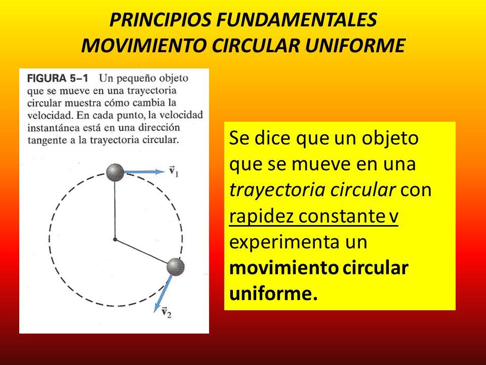 PRINCIPIOS FUNDAMENTALES MOVIMIENTO CIRCULAR UNIFORME