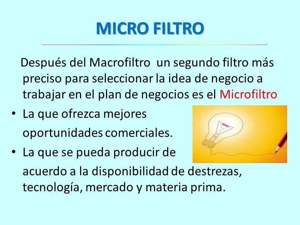 MICRO FILTRO
