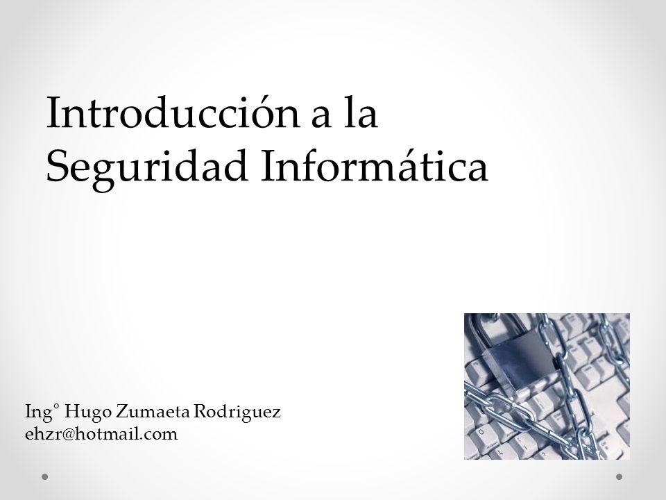 Introducción a la Seguridad Informática